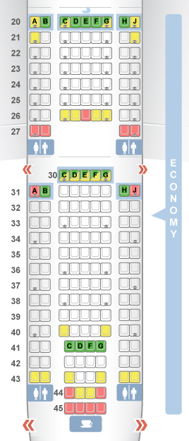 Seatguru Map Of Economy Seats On American Airlines Boeing